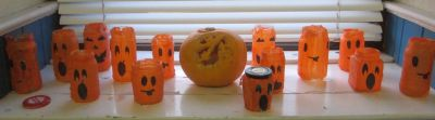 Oct - halloween jars
